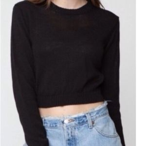 Brandy Melville Black Cropped Sweater